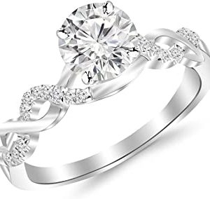 infinity whitegold diamond for Best Engagement Rings